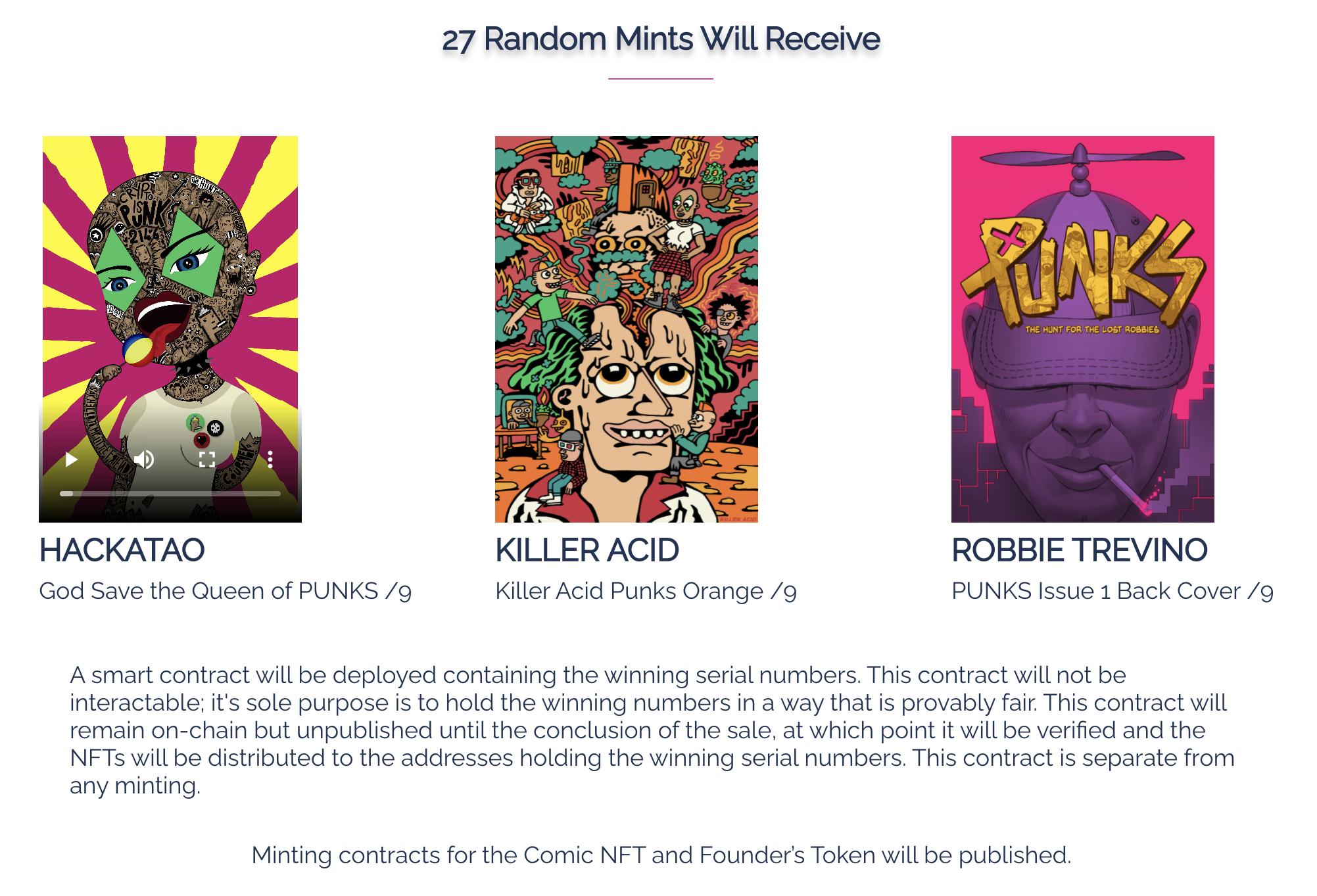 27 random punks Mint