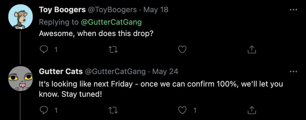 Gutter Cats Launch Date
