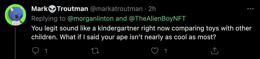 Mark Troutman Twitter Comments