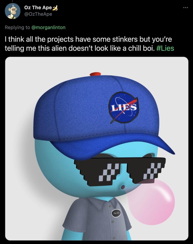 Alien Boy NFT Bubble Gum
