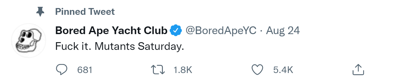 Bored Ape Yacht Club Mutants Announcement